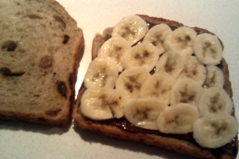 Chocolate And Banana Toastie