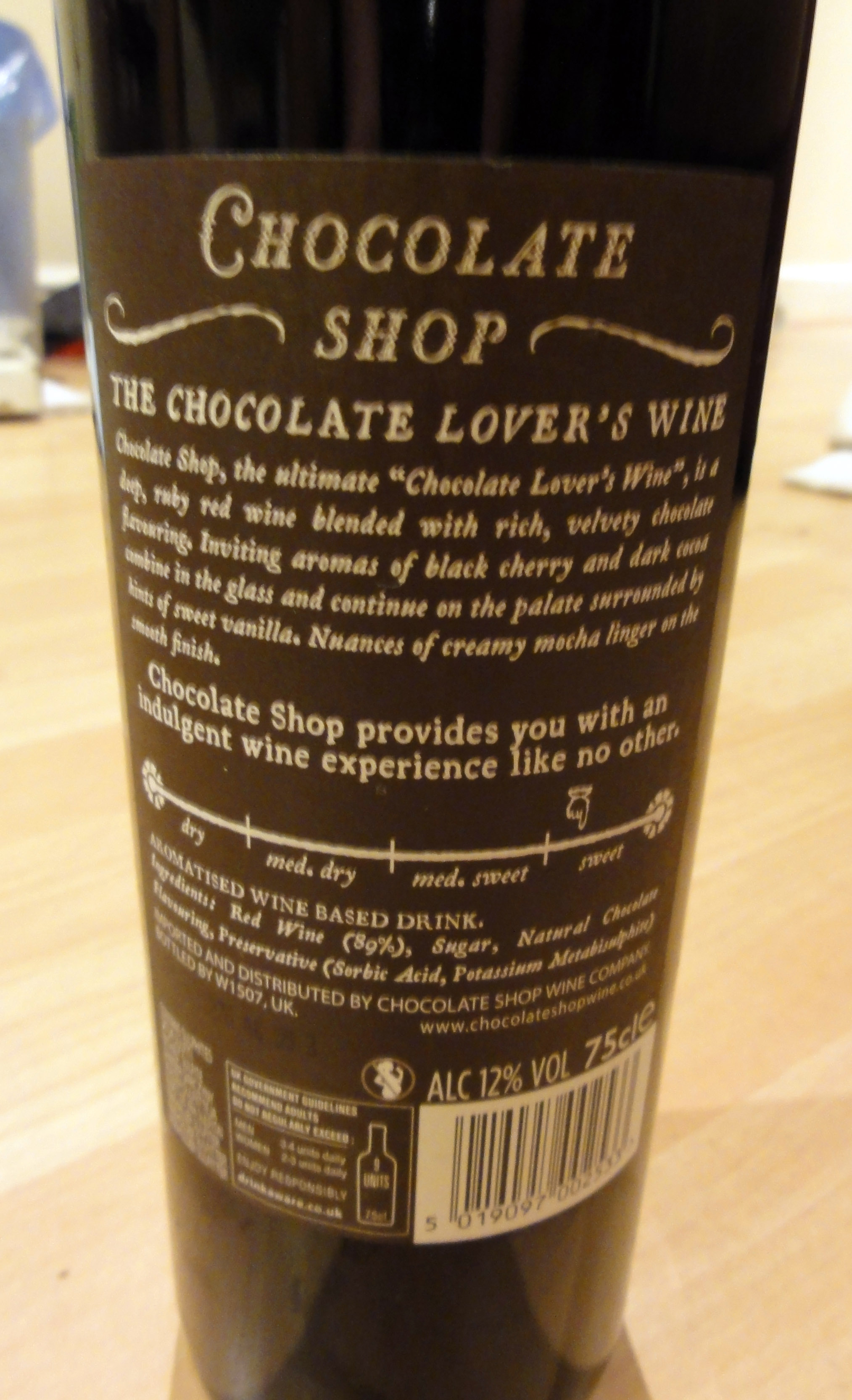The Chocolate Shop Chocolate Lover's Wine Review