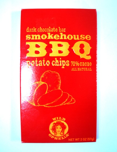 Wild Ophelia Smokehouse BBQ Potato Chips Dark Chocolate